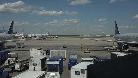 Aircraft operations Dulles International Airport Washington DC fast 4K 034 Footage