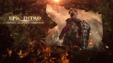 Fire Opening Titles After Effects Template