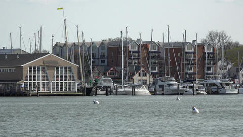 Annapolis Maryland marina harbor 4K 048 Footage