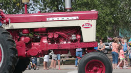Antique Farmall farm tractor rural parade HD 8538 Footage