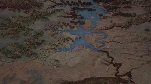 Arizona 3D model of Glen Canyon Dam Lake Powell 4K Footage