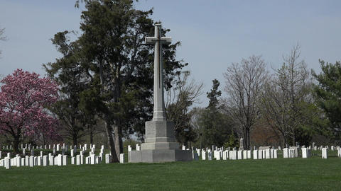 Arlington National Cemetery Canadian Cross headstones 4K Footage