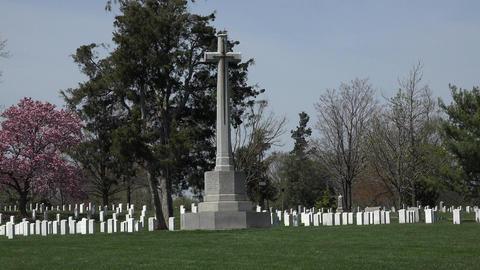 Arlington National Cemetery Canadian Cross headstones 4K Footage