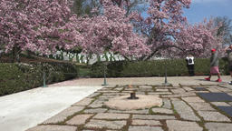 Arlington Cemetery President Kennedy grave tourist respect 4K 002 Footage
