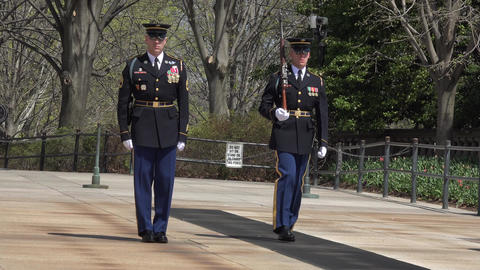Arlington National Cemetery Change Guard of Honor 2 4K Footage