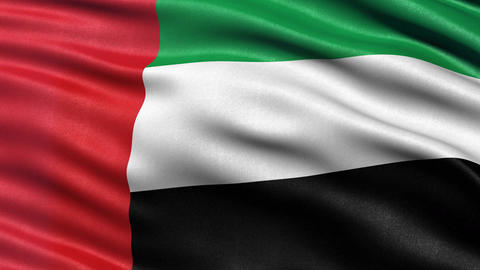 United Arab Emirates flag seamless loop Animation