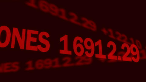 Business investment news, world stock markets indices shown on electronic ticker Footage