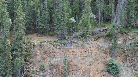Bike on mountain trail P HD 1368 Footage