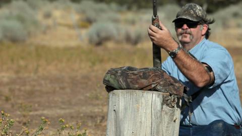 Black powder rifle practice P HD 2263 Footage