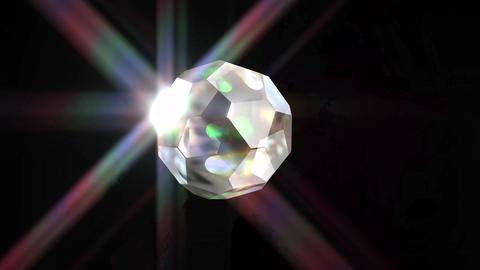 697 4k 3d animated two footages of crystal ball Animation