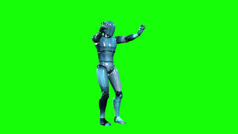 698 4k 3d animated two concept footages of robot who battles with enemy Animation