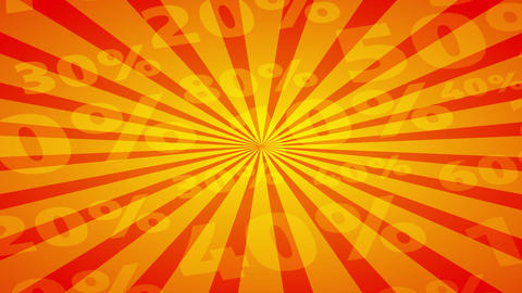marketing advertisement with plenty reduce percentage numbers on a sunbeam background for excellent Animation