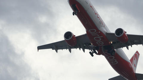 Airliner Gear Up. Airbus A321 by Air Berlin D-ABCH. 4K 2160p UltraHD Video Live Action