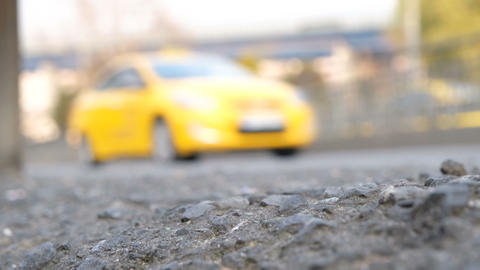 Out of focus traffic background. Blurry background of traffic jam. Abstract transportation concept . Live Action