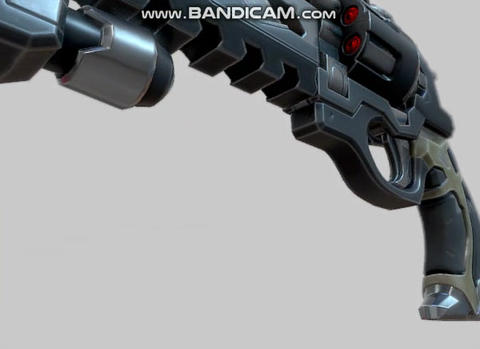 Cyber Revolver Modelo 3D