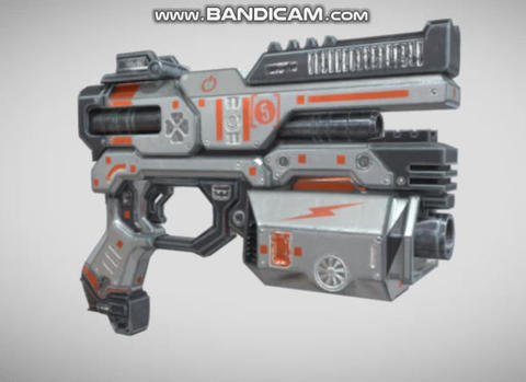 Sci fi pistol game ready 3D Model