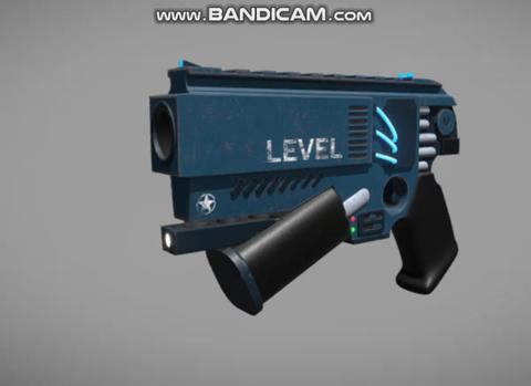 Cyberpunk style gun pistol Modelo 3D