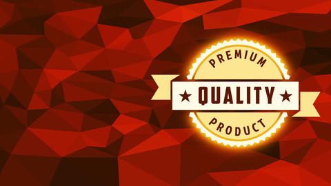 commercial company premium value product icon made with zigzagged round under award over 3d abstract Animation