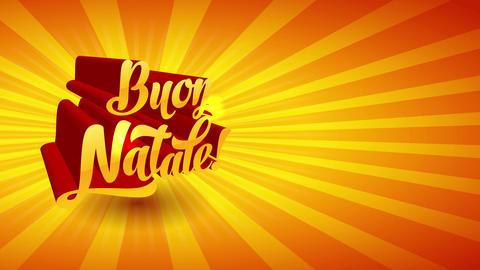 buon natale italian merry christmas custom golden handwriting with light forming depth of field on Animation