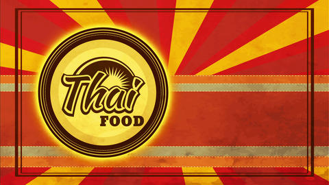 thai food bistro mark idea way with plate over trimming layers with patterned and oval designs Animation