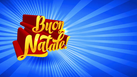 buon natale 3d handwriting with mid angle guide over light blue sunshine background sharing angle Animation