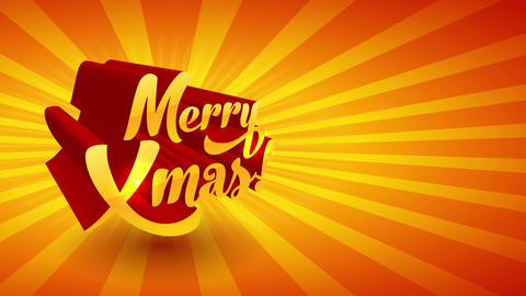 merry xmas gala sign with 3d sparkling doodle gradient script effect with lightning of sunburst on Animation