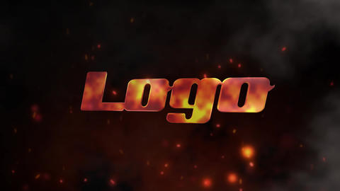 Stylish Fire Logo After Effects Template