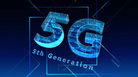 5G Digital Network technology 5th generation mobile communication concept Background 1 N2 blue 4k Animation