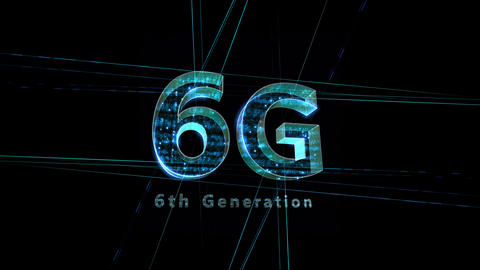 6G Digital Network technology 6th generation mobile communication concept Background 1 F1 black 4k Animation