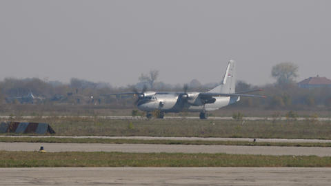 Russian Turboprop Antonov An-26 Transport Plane Intercepted by Air Force Jet Live Action