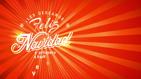 christmas calling with spanish banner and motivating script feliz navidad y prospero ano nuevo on Animation