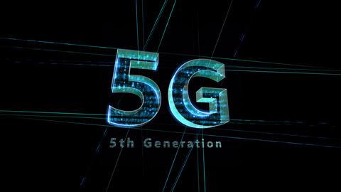 5G Digital Network technology 5th generation mobile communication concept Background 1 F1 black 4k Animation