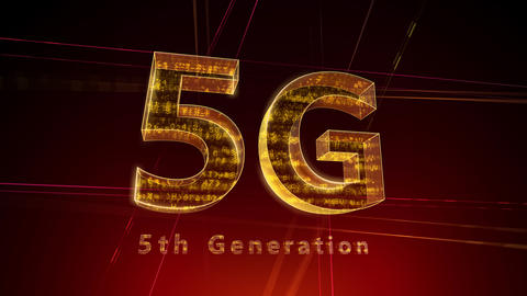 5G Digital Network technology 5th generation mobile communication concept Background 1 F1 red 4k Animation