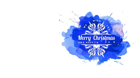 festive quotation one wish yourself merry christmas and smiling new year written on sharp snowflake Animation