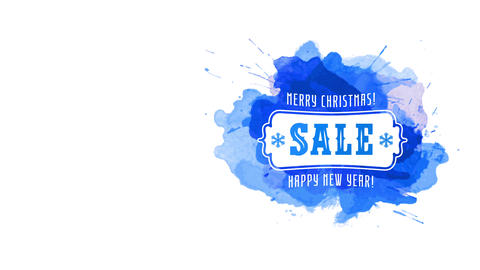 merry xmas cheerful new year seasonal transfer gala art…, Stock Animation