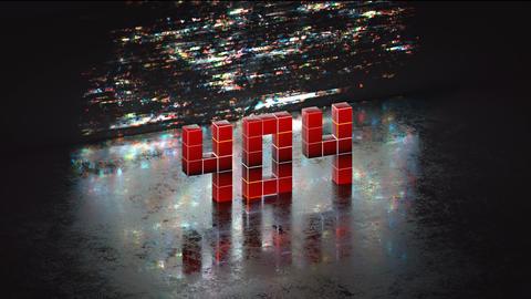 Error 404 in pixel art 3D render VJ loop animation Animation