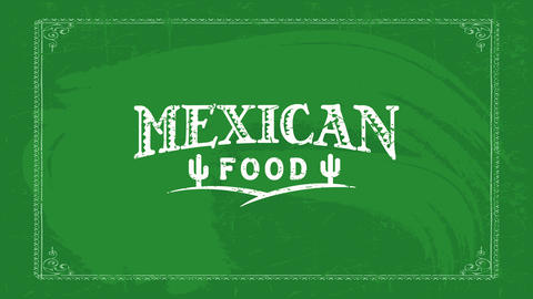 old west mexican food restaurant tag idea with indigenous style typography decorated with cactus Animation