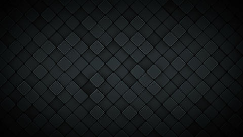 Black background with rhombus 3D render seamless loop animation Animation