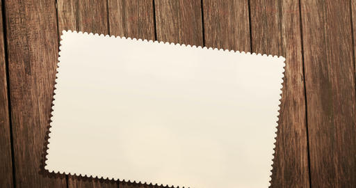top view of greeting card on old wood background with space for text, greeting concept festive Live Action