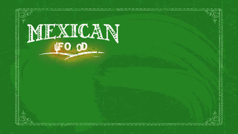 aged west mexican nourishment restaurant label dream with indigens style typography decorated with Animation