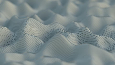 Flowing white surface 3D render seamless loop animation Animation