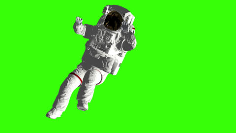 Astronaut falls to Earth in the open space. Spacewalk. Elements of this image Live Action
