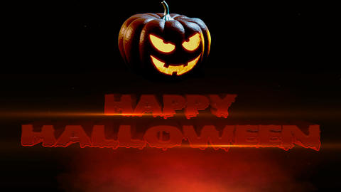 Happy Halloween Spooky Jack O Lantern Footage