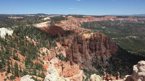Bryce Canyon National Park cloud shadow over valley 4K 160 Footage