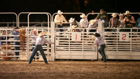 Bull rider getting ready rodeo at night P HD 1013 Footage