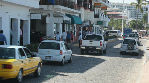 Business street Puerto Vallarta P HD 4575 Footage