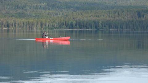 Canoe catch fish P HD 0168 Footage