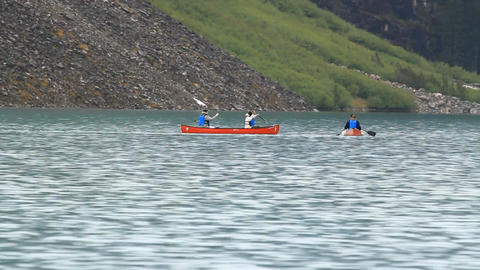 Canoes Lake Moraine P HD 1188 Footage