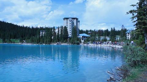 Canoes Lake Louise Resort P HD 7461 Footage