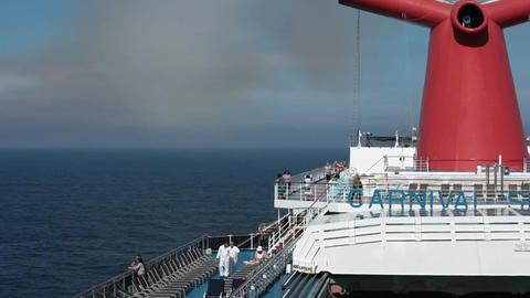 Carnival ship decks passengers P HD 4242 Footage